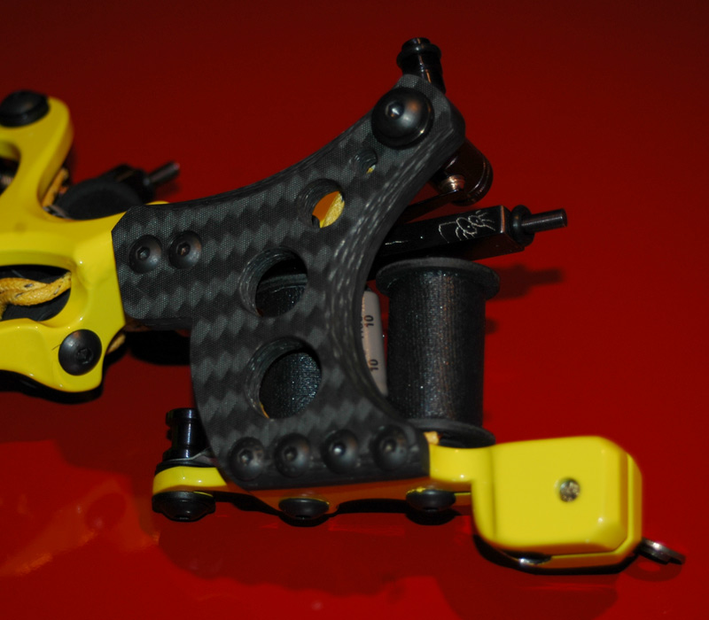 Carbon Fiber and Bright Yellow Honey Badger